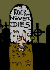 Rock never dies!Tombstone