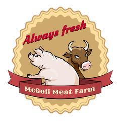 McCoil Meat Farm label - Always fresh