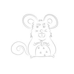 cartoon rat drawing
