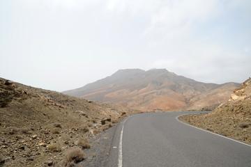 La montagne de Cardón à Pájara à Fuerteventura