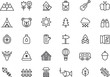 Camping, Hiking, Nature & Outdoor Activities icons