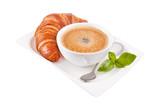 Croissant mit Kaffee