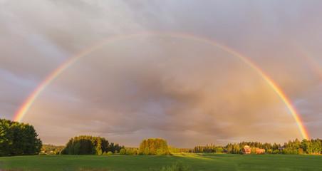 rainbow on meadow