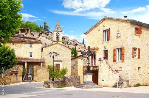Leinwandbild Motiv Village Cévenol