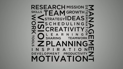 Building success word cloud