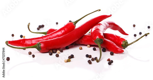 Foto op Canvas Hot chili peppers Red chili pepper