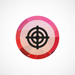 target circle pink triangle background icon.
