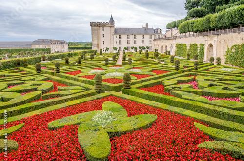 Garden with Chateau Villandry