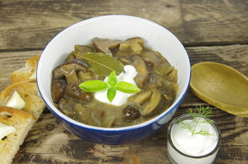 cream soup with boletus