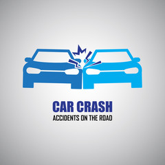car crash and accidents icons