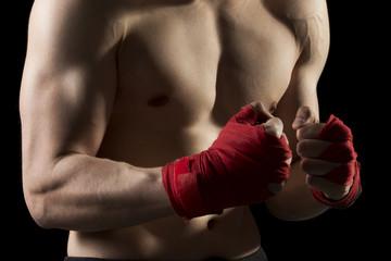 On a kick boxing training