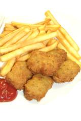frites et nuggets