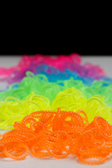 Phosphorescent loom bands