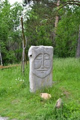 The statue of the Okunev culture