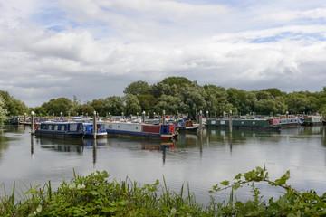 narrow boats at Thames and Kennet Marina, Reading