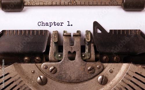 Leinwanddruck Bild Vintage inscription made by old typewriter
