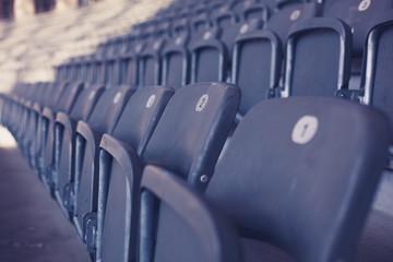 Bleachers in stadium