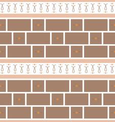 Refined modern seamless geometric wallpaper pattern