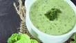 Fresh made Broccoli Soup (seamless loopable HD footage)