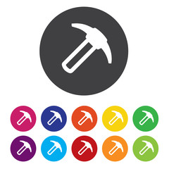 Hammer sign icon. Repair service symbol