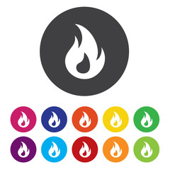 Fire flame sign icon. Heat symbol. Stop fire