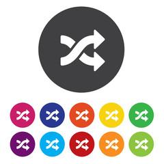 Shuffle sign icon. Random symbol