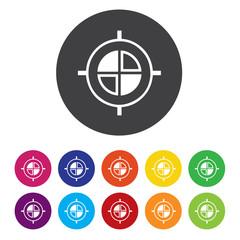 Crosshair sign icon. Target aim symbol