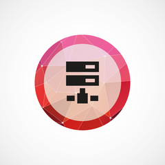 net drive circle pink triangle background icon.