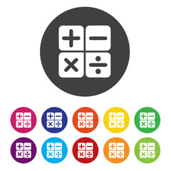 Calculator sign icon. Bookkeeping symbol
