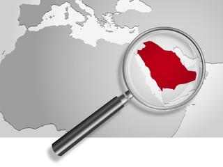 Landkarte *** Asien Saudi-Arabien