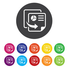 Copy file sign icon. Duplicate document symbol