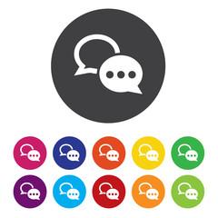 Chat sign icon. Speech bubbles symbol. Communication chat bubble