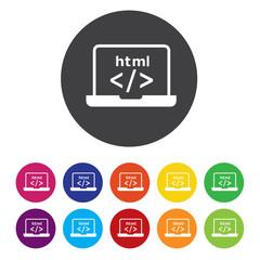 html laptop button