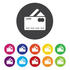 Credit card sign icon. Debit card symbol. Virtual money