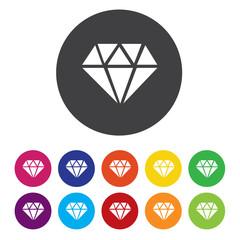 Diamond sign icon. Jewelry symbol. Gem stone.