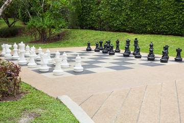 Schach im Garten