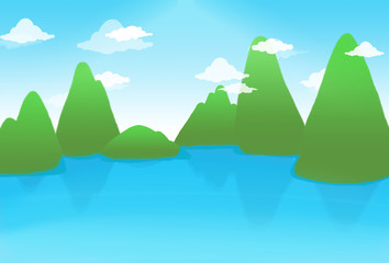 Background Green Moutain View