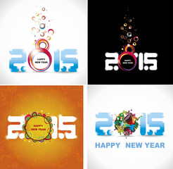 New year 2015. Set posters