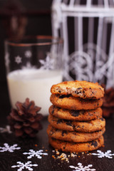 homemade cookies with chocolate drops