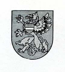 Coat of arms of Rezekne, Latvia ca. 1930