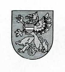 Coat of arms of Rezekne, Latvia ca. 1930