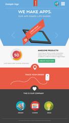 Flat designed web template