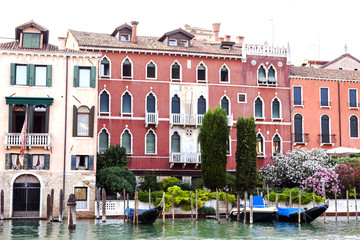 Apartments on a canal in Venice, Italy