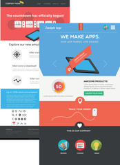 Two flat designed web templates