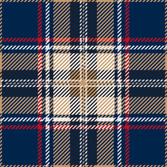 Blue Seamless Tartan Plaid