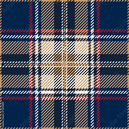 Fotobehang Stof Blue Seamless Tartan Plaid