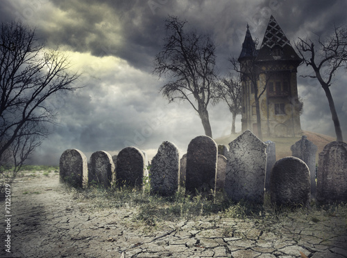 Foto op Canvas Temple Hunted House