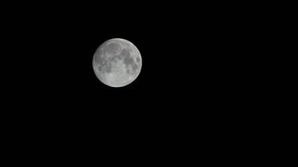 満月の落下・ティルト撮影
