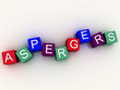 Постер, плакат: 3d imagen Aspergers scognitive behavior and autism spectrum