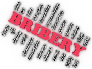 3d imagen Bribery concept word cloud background
